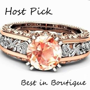 Jewelry - Champagne topaz 14k rose gold filled & silver ring